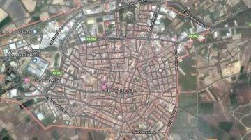 Imagen desde el satélite