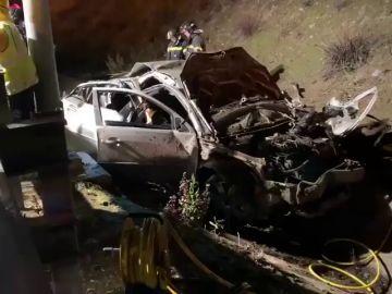 Mueren tres jóvenes de 20 años y otro resulta herido en un accidente de tráfico esta madrugada en la M-50