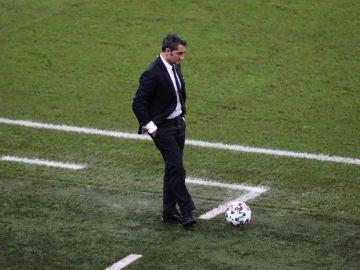 Ernesto Valverde, en la semifinal de la Supercopa de España