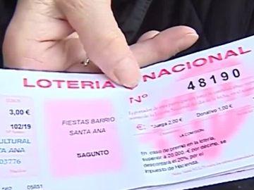 Papeleta Lotería de Navidad