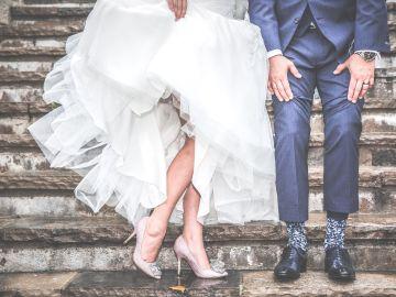 Imagen de una pareja de recién casados