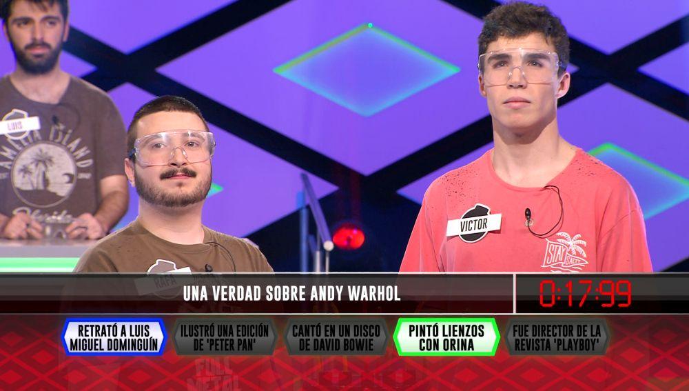 La orina de Andy Warhol permite al equipo '4 personas' demostrar su intución en '¡Boom!'