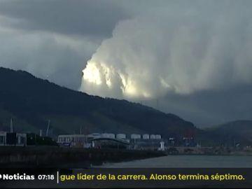 Alerta amarilla en Euskadi por una galerna ha atravesado la costa de Vizcaya