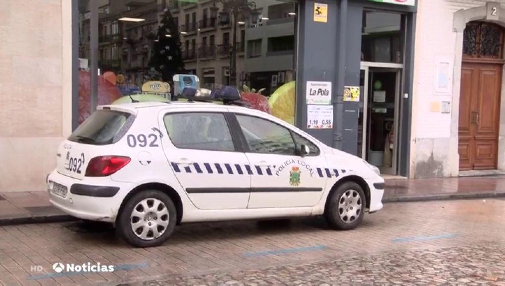 Coche de la Policía de Pola de Siero, en Asturias