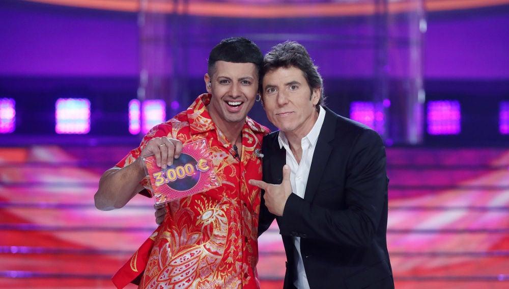 Jorge González, ganador de la primera gala de la octava edición de 'Tu cara me suena'