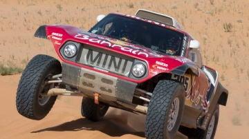Carlos Sainz, en acción en la sexta etapa del Dakar