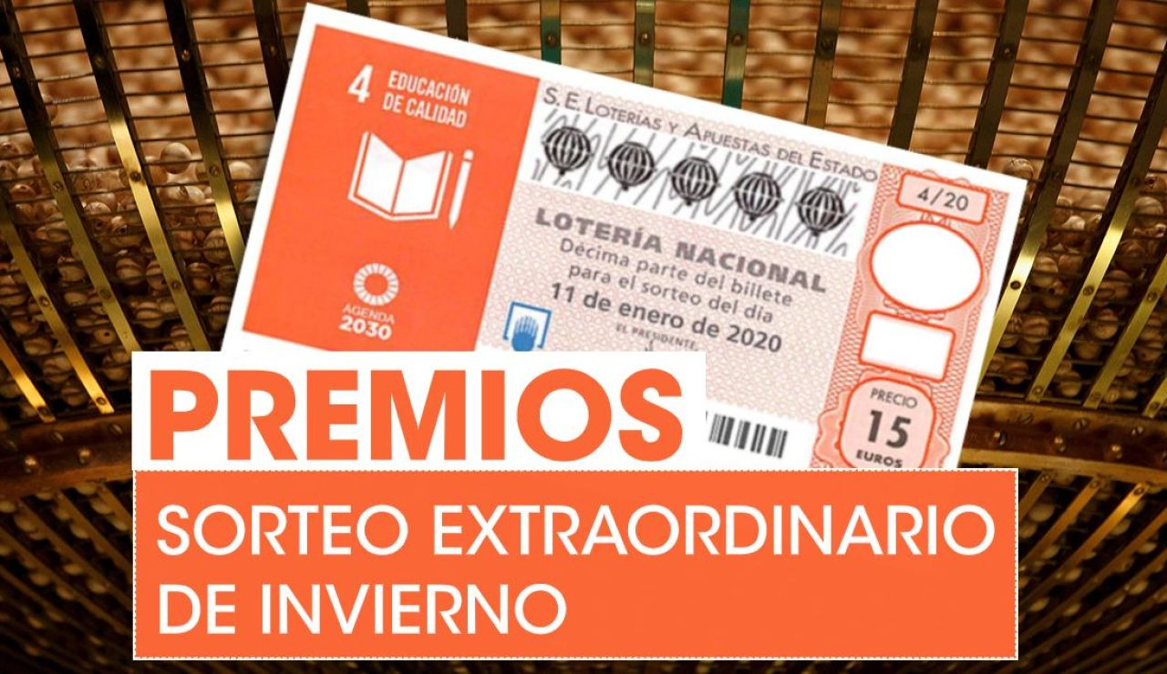 Premios del Sorteo Extraordinario de Invierno de la Lotería Nacional del sábado 11 de enero