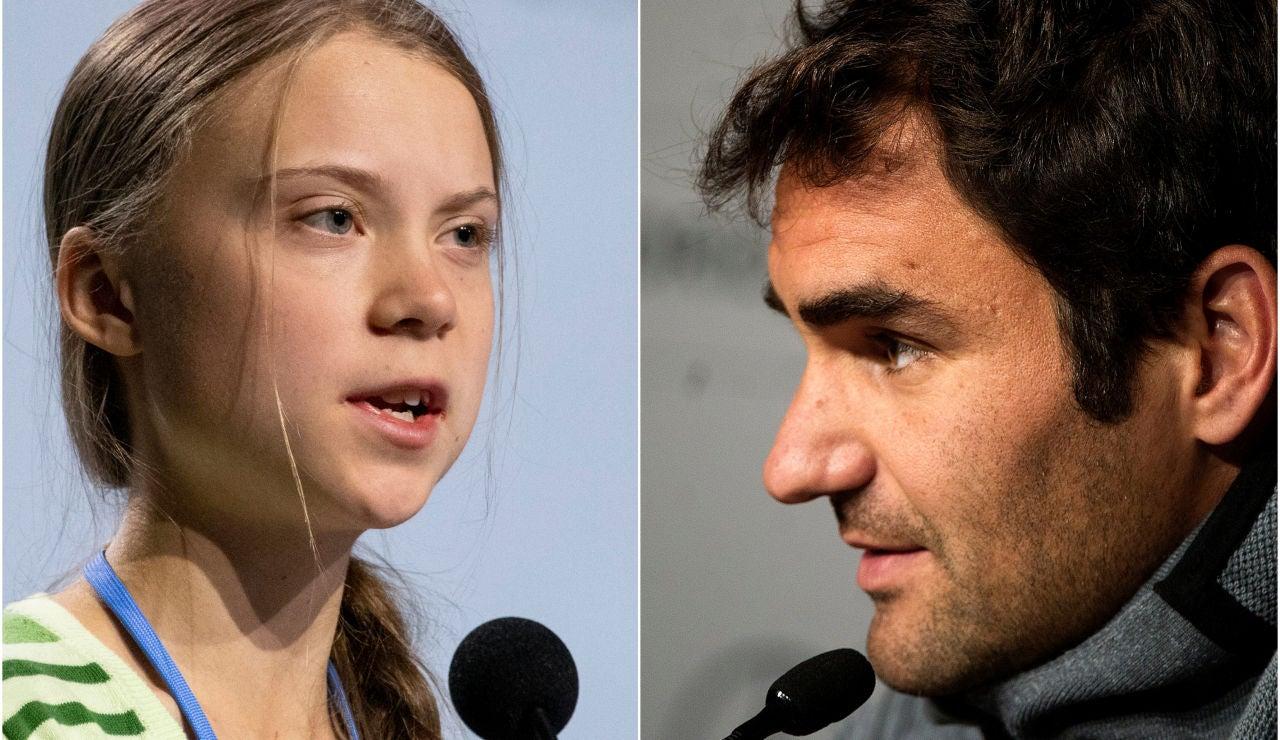 Federer responde a las críticas de Greta Thunberg