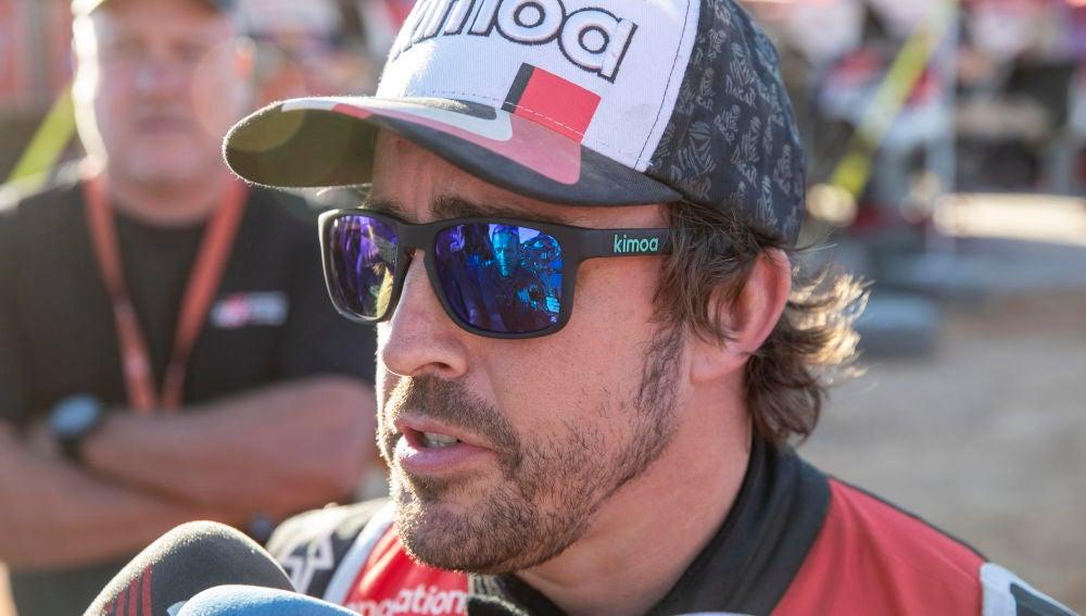 Fernando Alonso habla después de su primera semana de Dakar