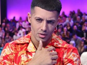 Jorge González, caracterizado como Mahmood en 'Tu cara me suena'