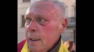 Agredido en la manifestación de Vox en Cornellà