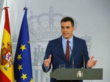 Pedro Sánchez, en el Palacio de la Moncloa