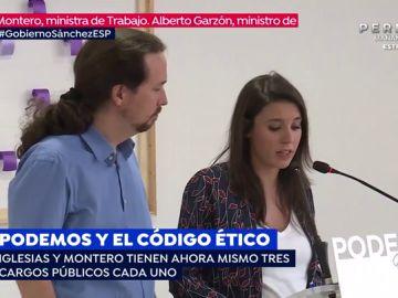 ¿Incumplen Pablo Iglesias e Irene Montero el código ético de Unidas Podemos?