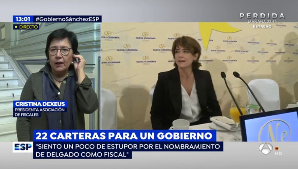 """Cristina Dexeus, presidenta de la Asociación de Fiscales: """"La Fiscalía debe mantenerse al margen de la política partidista"""""""