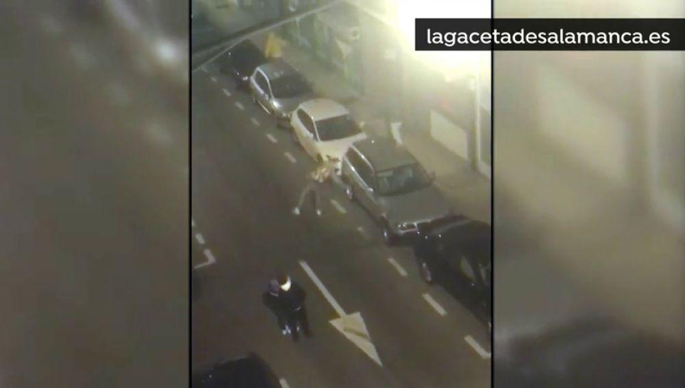 La Policía detiene a varios menores 'destrozacoches' en Salamanca