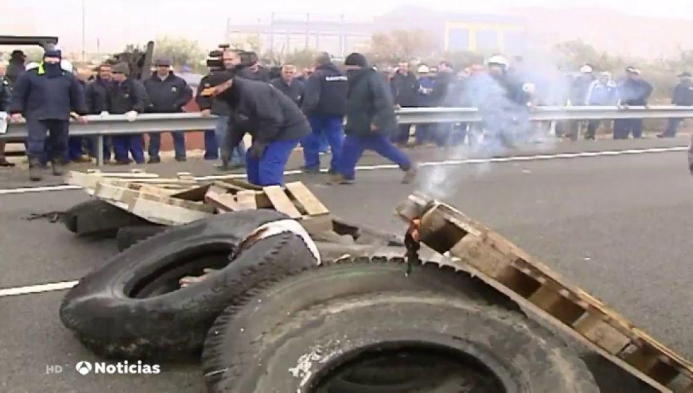 Piquetes en una huelga
