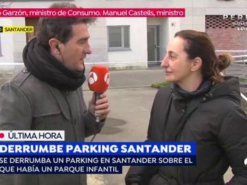 """La presidenta de la asociación de vecinos donde se ha producido el derrumbe en Santander: """"Estoy en shock"""""""