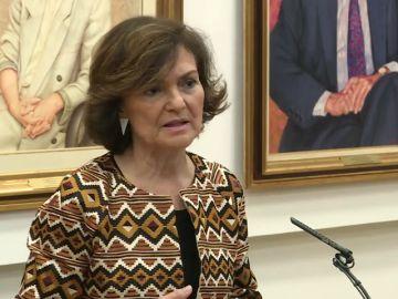 """Carmen Calvo: """"Seremos prudentes en la valentía"""""""