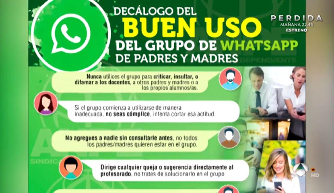 El décalogo para hacer un buen uso de los grupos de WhatsApp de padres y madres