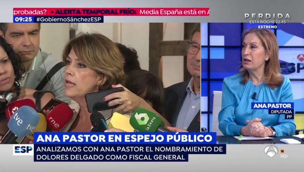 """Ana Pastor: """"Si queremos tener un Ministerio Fiscal tiene que ser desde el punto de vista ético, estético y de fondo"""""""