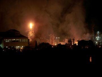 Incendio en  una planta petroquímica de La Canonja