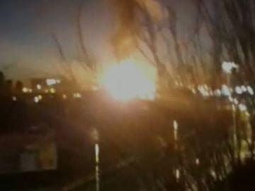 Incendio petroquimica en Tarragona