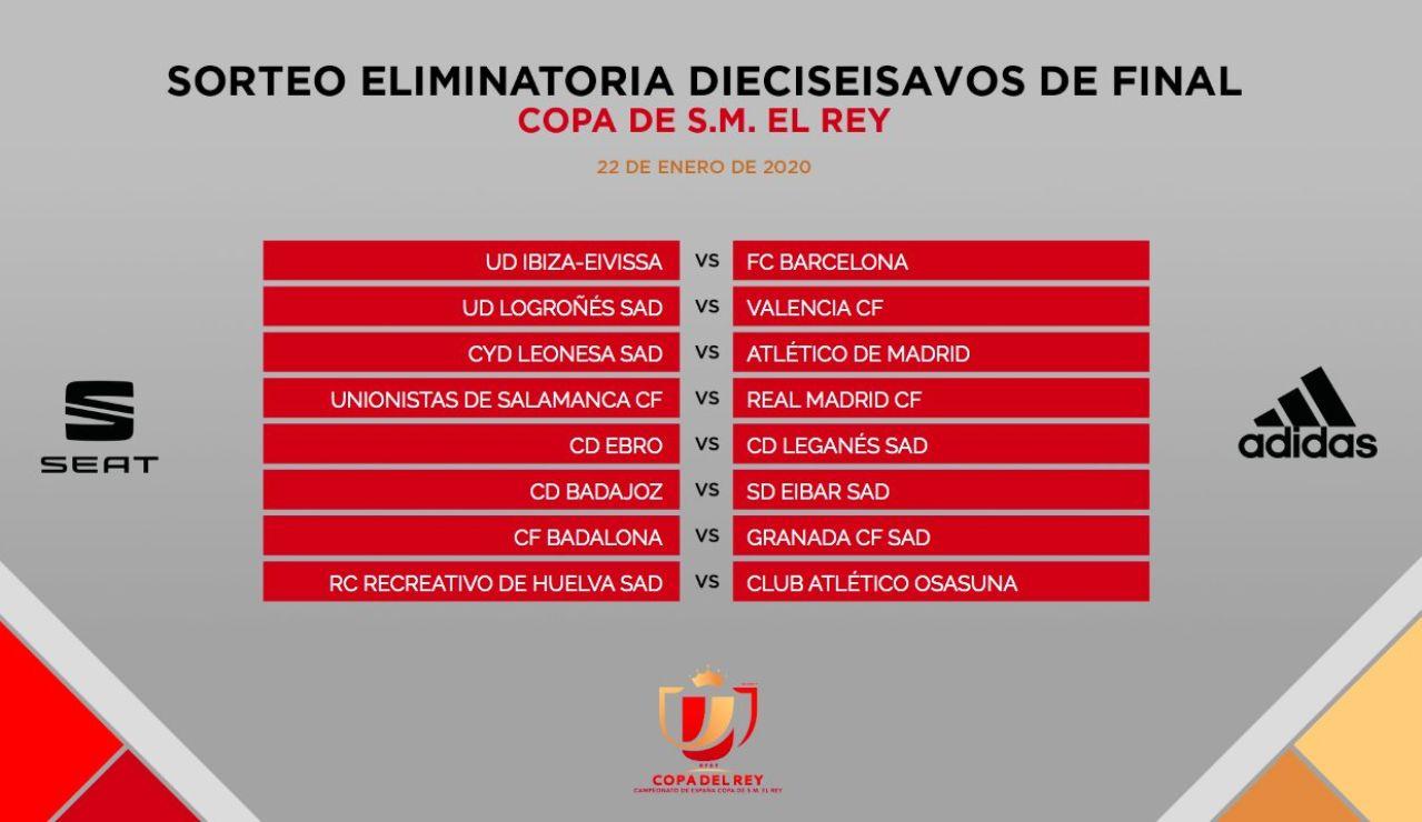 Emparejamientos Copa del Rey 2020