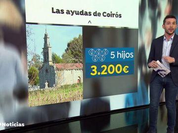 El Ayuntamiento gallego de Coirós dará 1000 euros a los padres primerizos y subirá a los 3200 euros por el quinto hijo