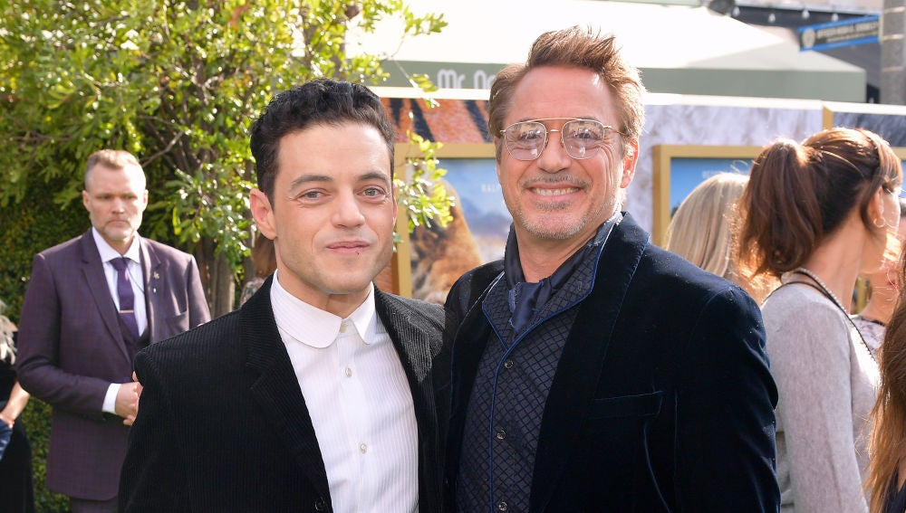 Rami Malek y Robert Downey Jr.