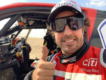 Mensaje optimista de Fernando Alonso tras su accidente en el Dakar