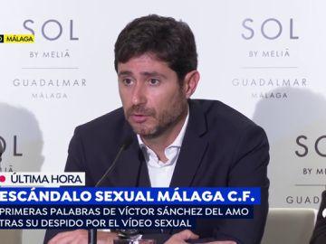 Rueda de prensa Victor Sánchez del Amo