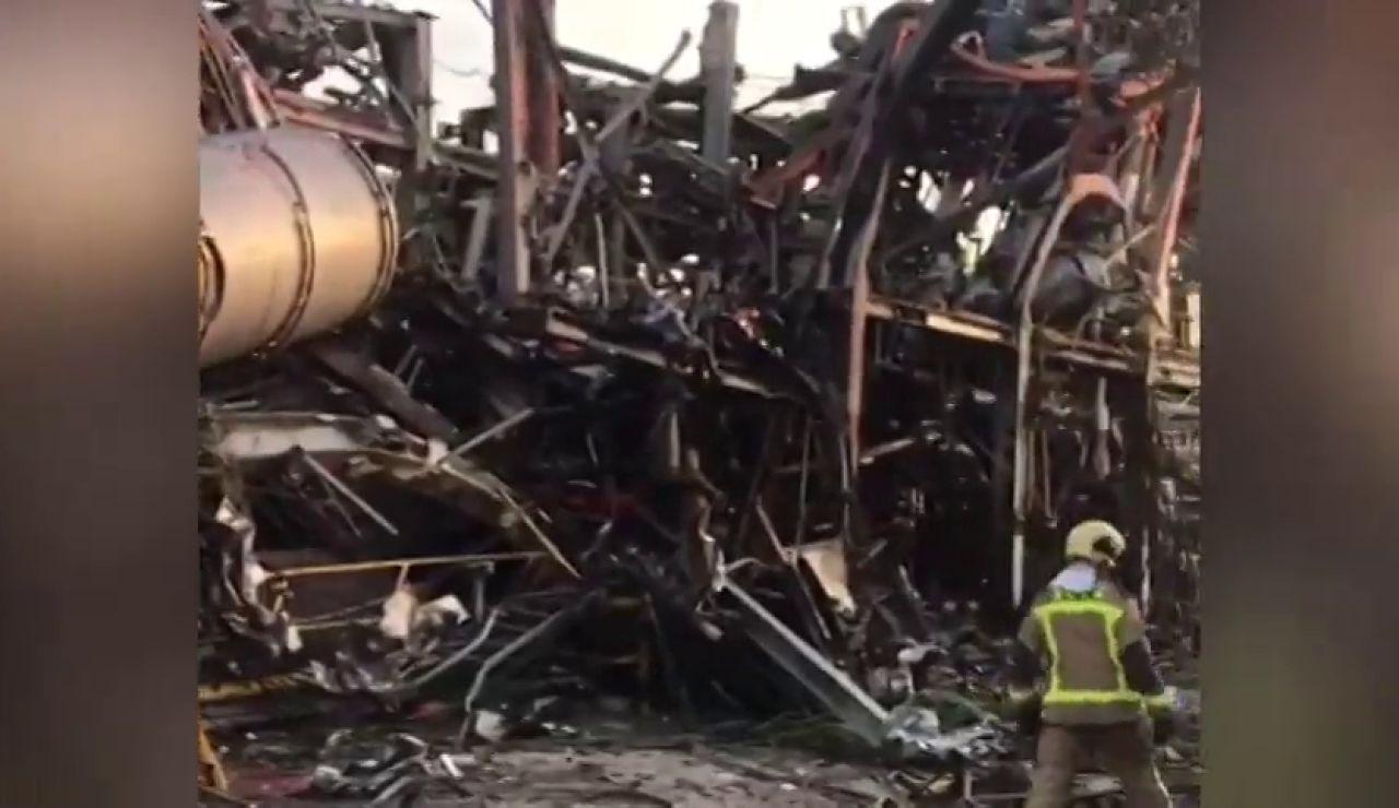 El vídeo que muestra el interior de la fábrica tras la explosión de Taragona