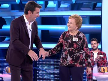 El bucle más entrañable de '¡Ahora caigo!': Arturo Valls con Palmira Gogó