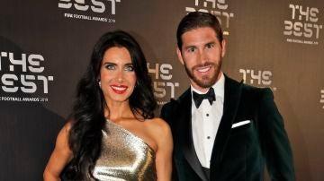 Pilar Rubio y Sergio Ramos en los Best FIFA soccer awards