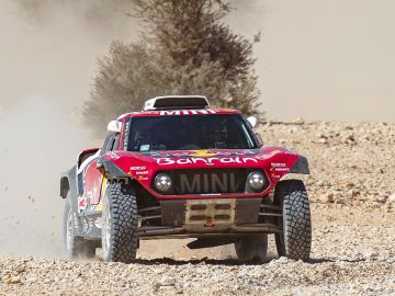 Stephane Peterhansel, en acción en el Dakar