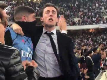 La locura de Fede Valverde con el penalti de Ramos en la grada tras su expulsión