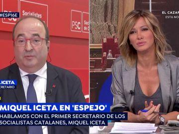 """Miquel Iceta, ante las acusaciones del PP y Ciudadanos sobre Torra: """"Si consideran que estoy fuera de la ley, que me lleven a los tribunales"""""""
