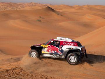 Carlos Sainz, en acción en las dunas de Arabia Saudí
