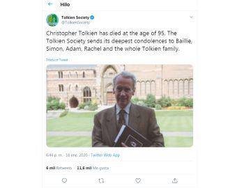 Christopher Tolkien, hijo del creador de 'El señor de los anillos'
