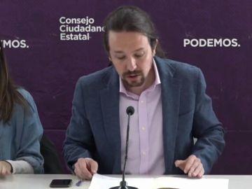 """Pablo Iglesias : """"Hemos logrado el principal objetivo político marcado hace seis años: trabajar desde el Gobierno"""""""