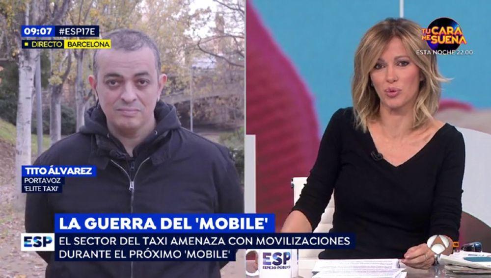 Los taxistas de Barcelona amenazan con una nueva huelga en plena guerra del 'mobile'