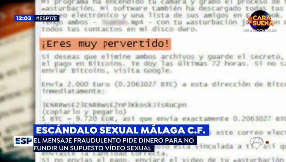 Escándalo sexual.