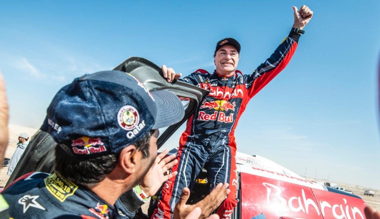 Carlos Sainz, tras ganar su tercer Dakar