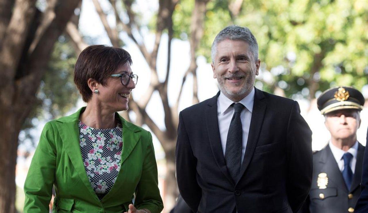María Gámez y Fernando Grande-Marlaska