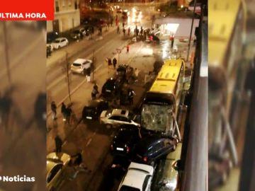 Un autobús pierde el control y arrolla a varias personas en la localidad navarra de Estella