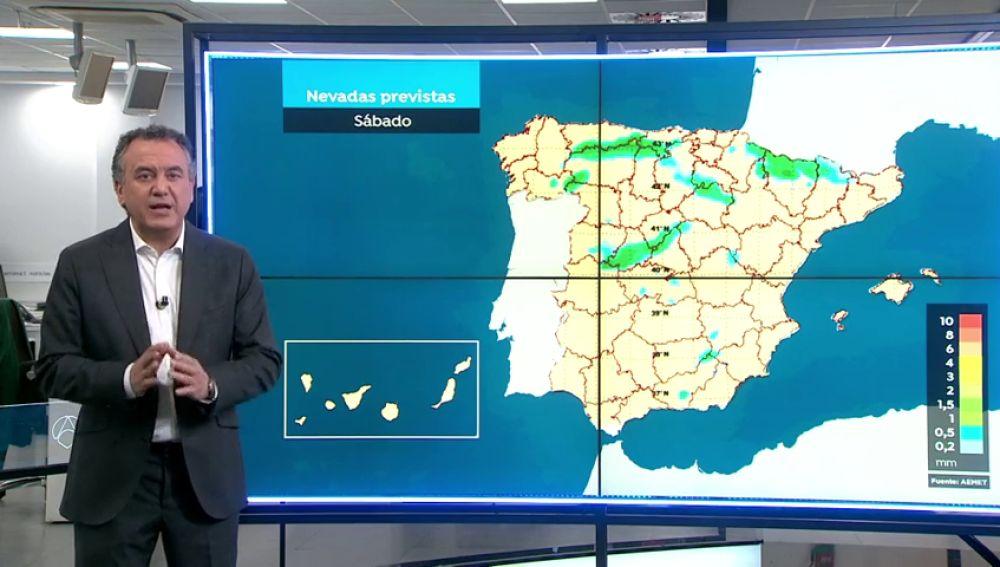 Roberto Brasero nos cuenta el tiempo del fin de semana: Temperaturas muy frías y nevadas dispersas