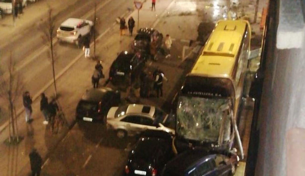Accidente de autobús en Estella