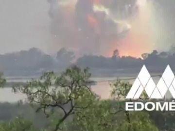 Explosión en un almacén de pirotecnia en México