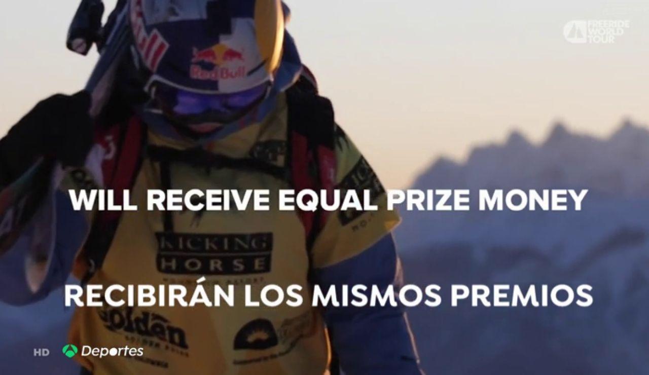 """El Mundial de freeride pagará los mismos premios a hombres y mujeres:  """"No debería ser una excepción, sino la norma"""""""