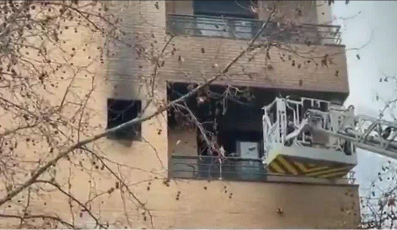 Incendio en una vivienda de Carabanchel